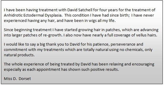 Testimonial from Miss D Dorset