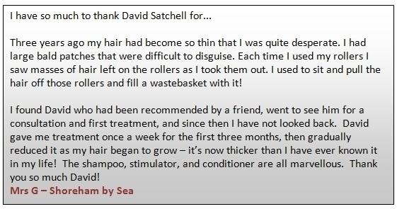 Eucaderm Alopecia Testimonial