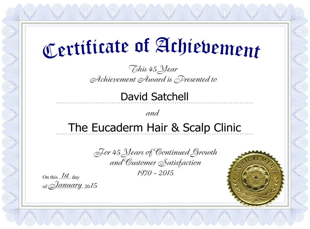 Eucaderm Hair Loss Clinic Using Natural Treatments